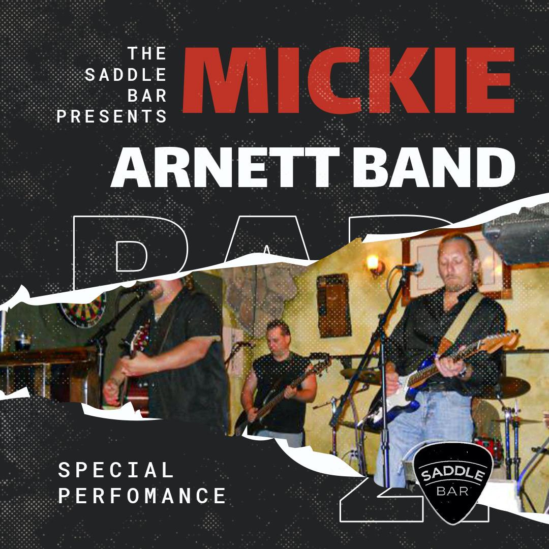 Thursday, September 16th, 2021 - 9pm to Midnight - Mickie Arnett Band - **LIVE**